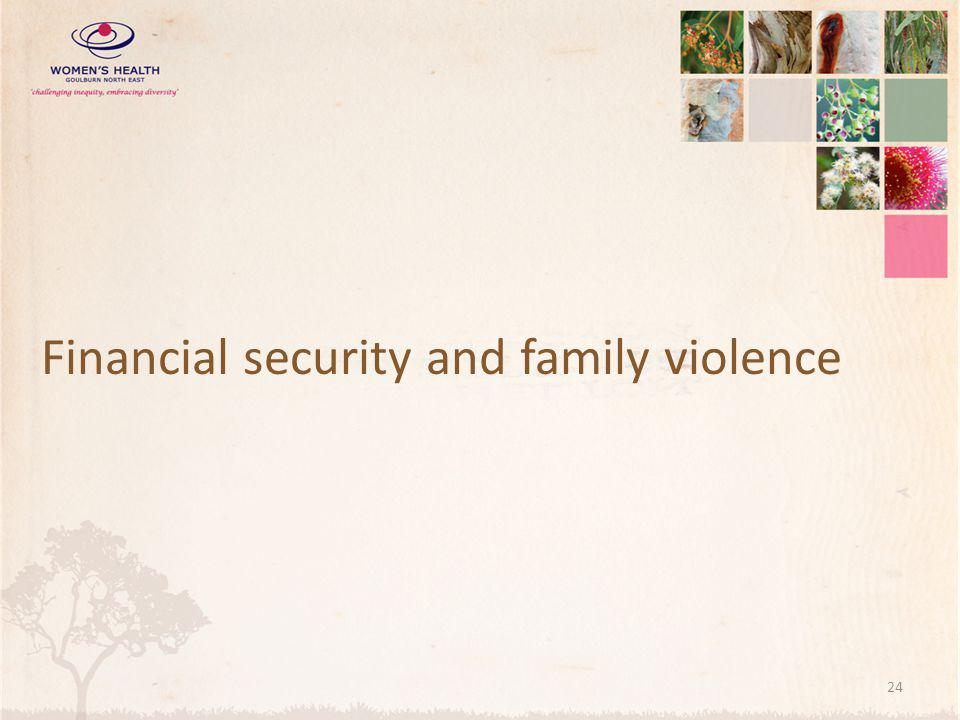 Financial security and family violence