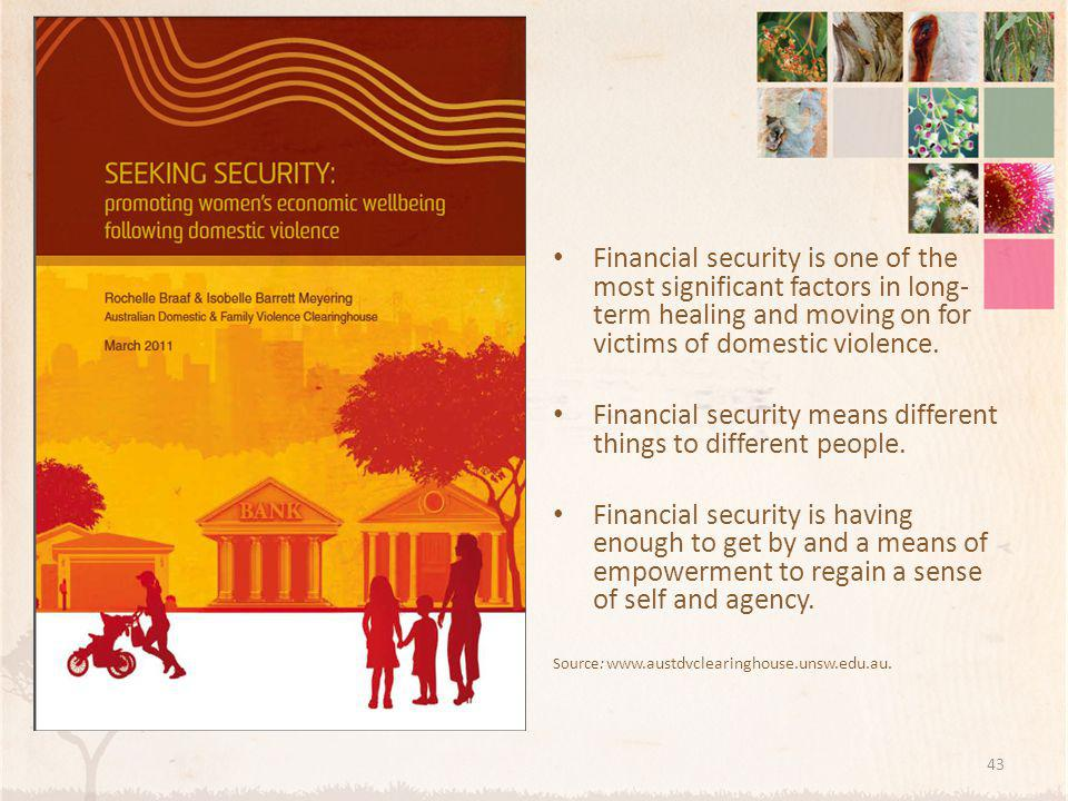 Financial security means different things to different people.