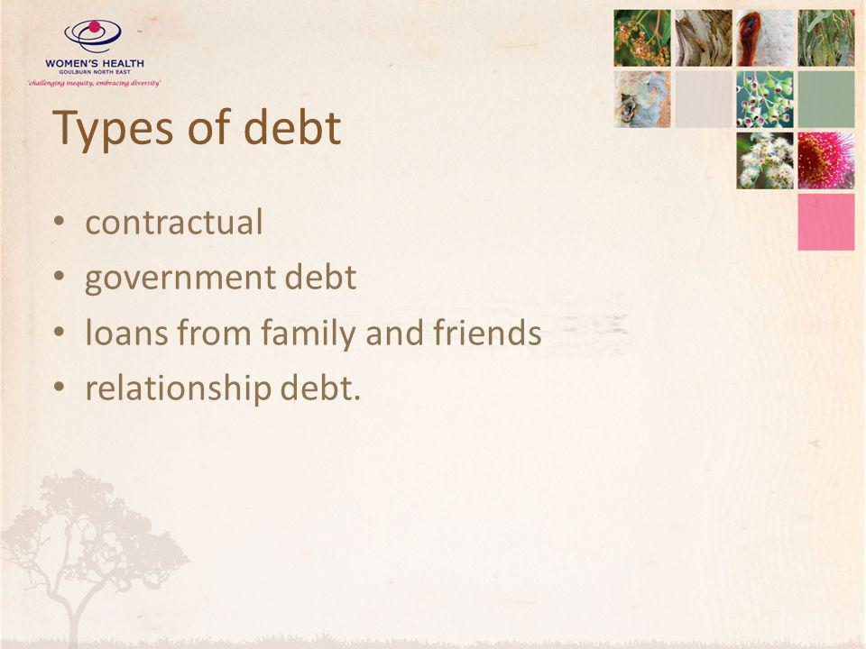 Types of debt contractual government debt