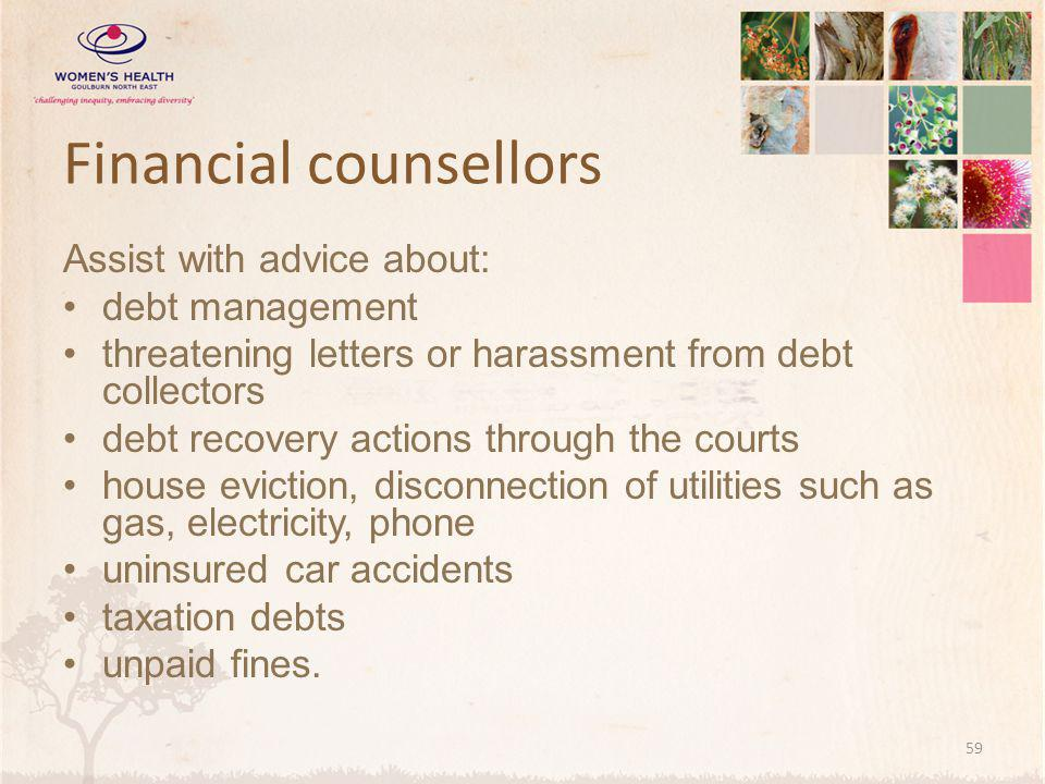 Financial counsellors