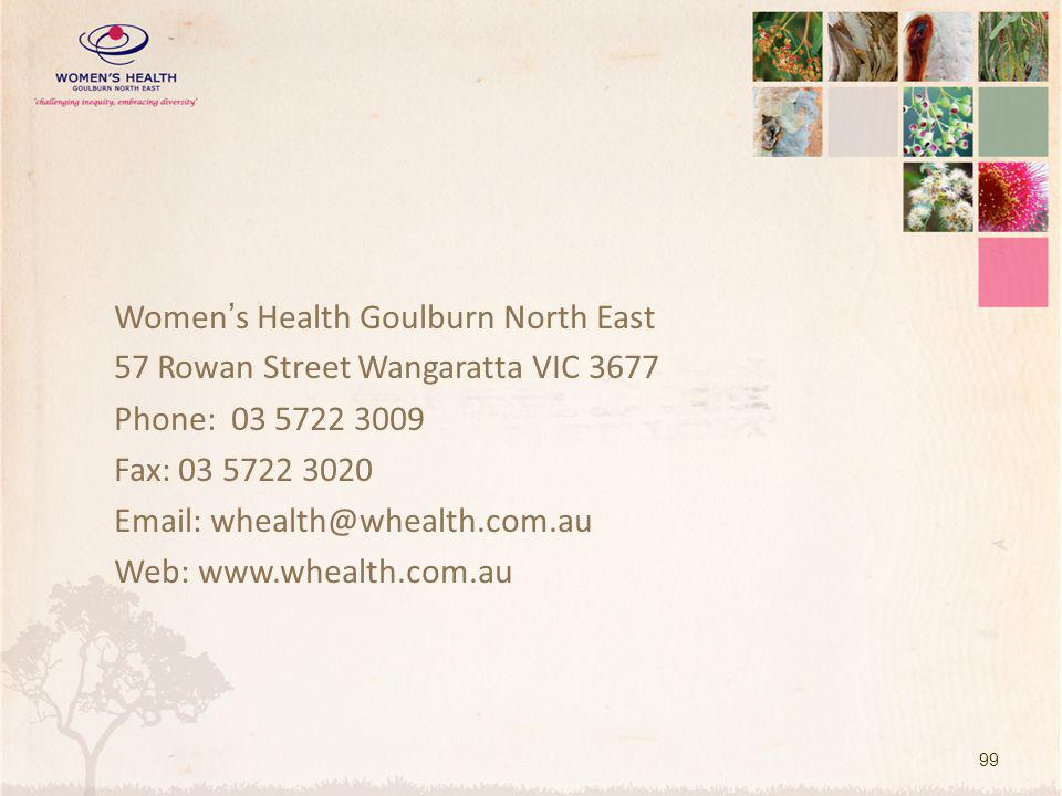 Women's Health Goulburn North East