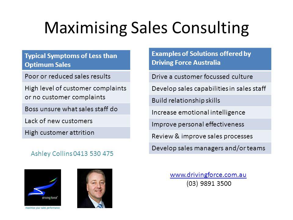 Maximising Sales Consulting