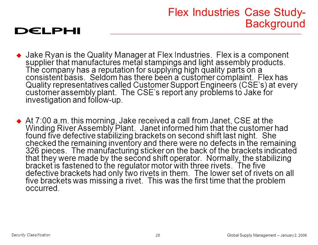 Flex Industries Case Study-Background
