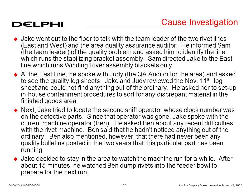 Cause Investigation