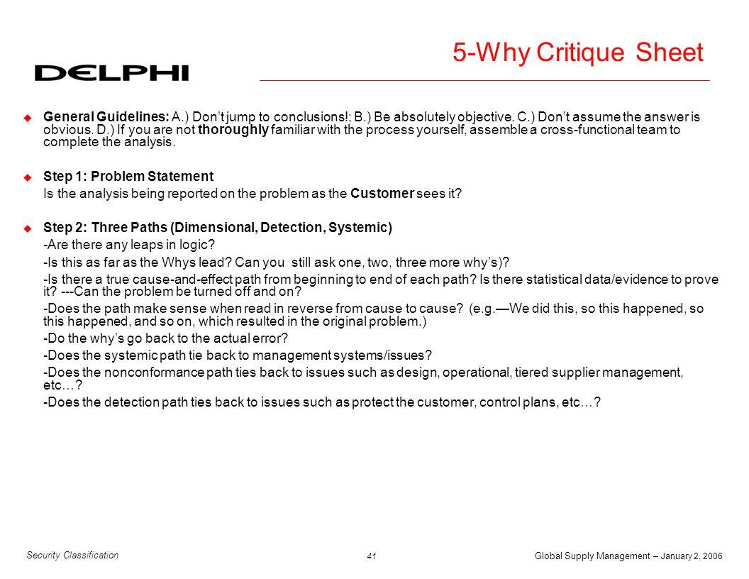 5-Why Critique Sheet