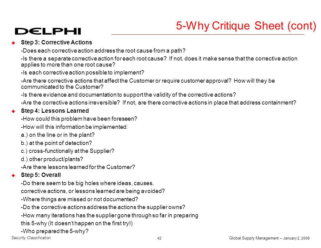 5-Why Critique Sheet (cont)