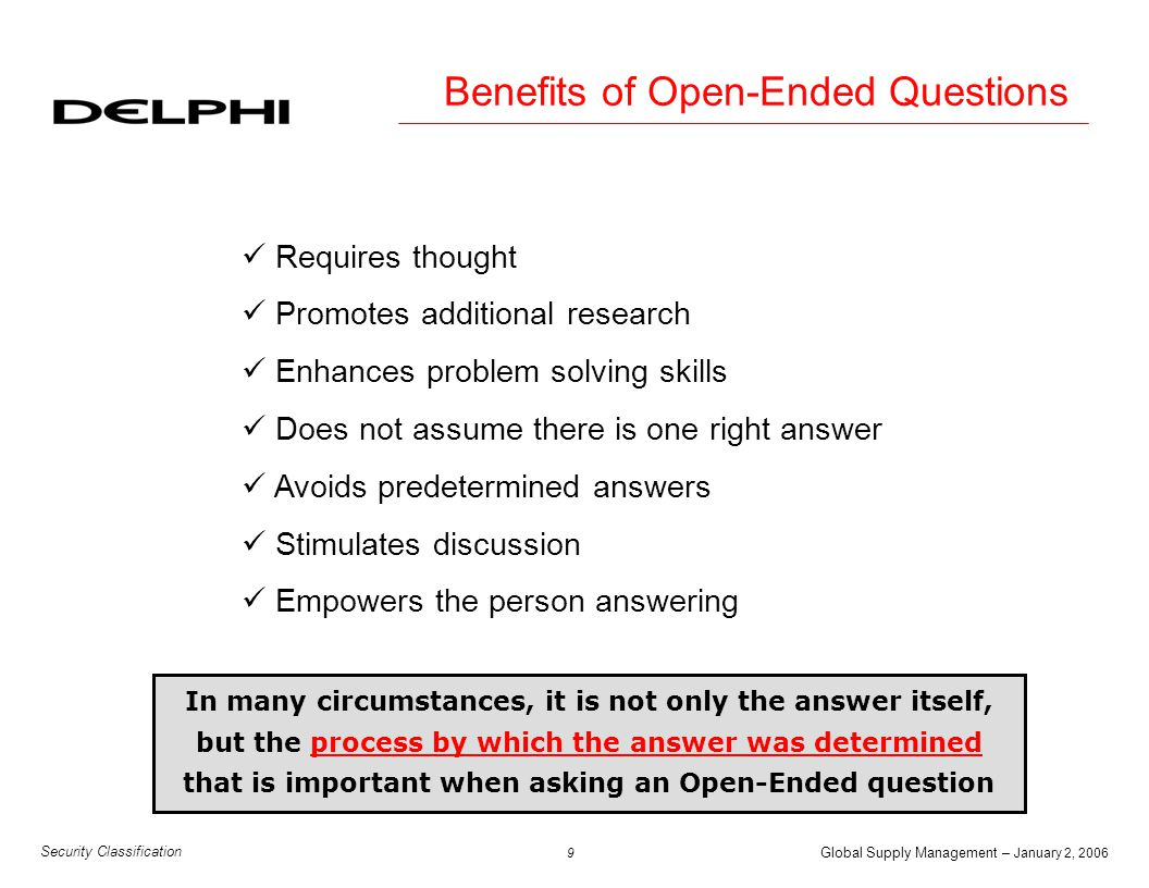 Benefits of Open-Ended Questions