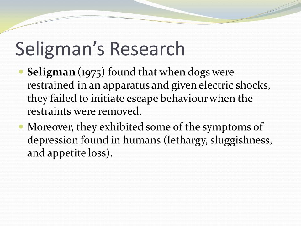 Seligman's Research