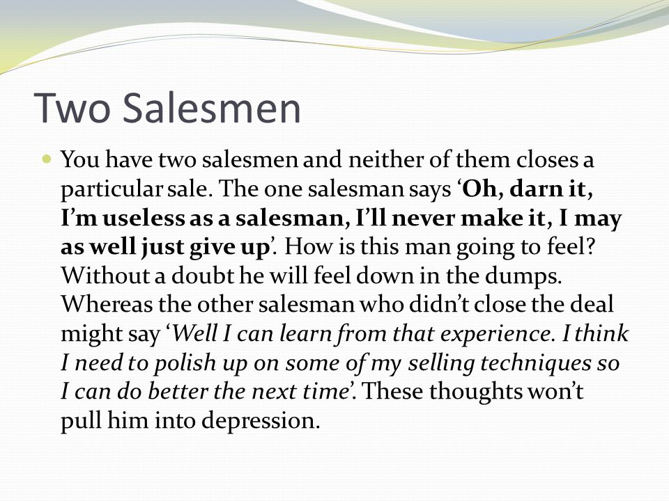 Two Salesmen