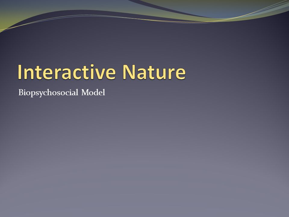 Interactive Nature Biopsychosocial Model