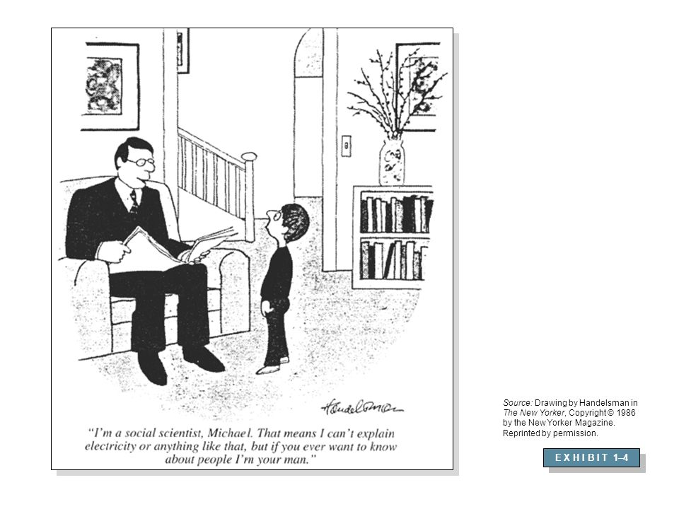 Source: Drawing by Handelsman in The New Yorker, Copyright © 1986 by the New Yorker Magazine. Reprinted by permission.