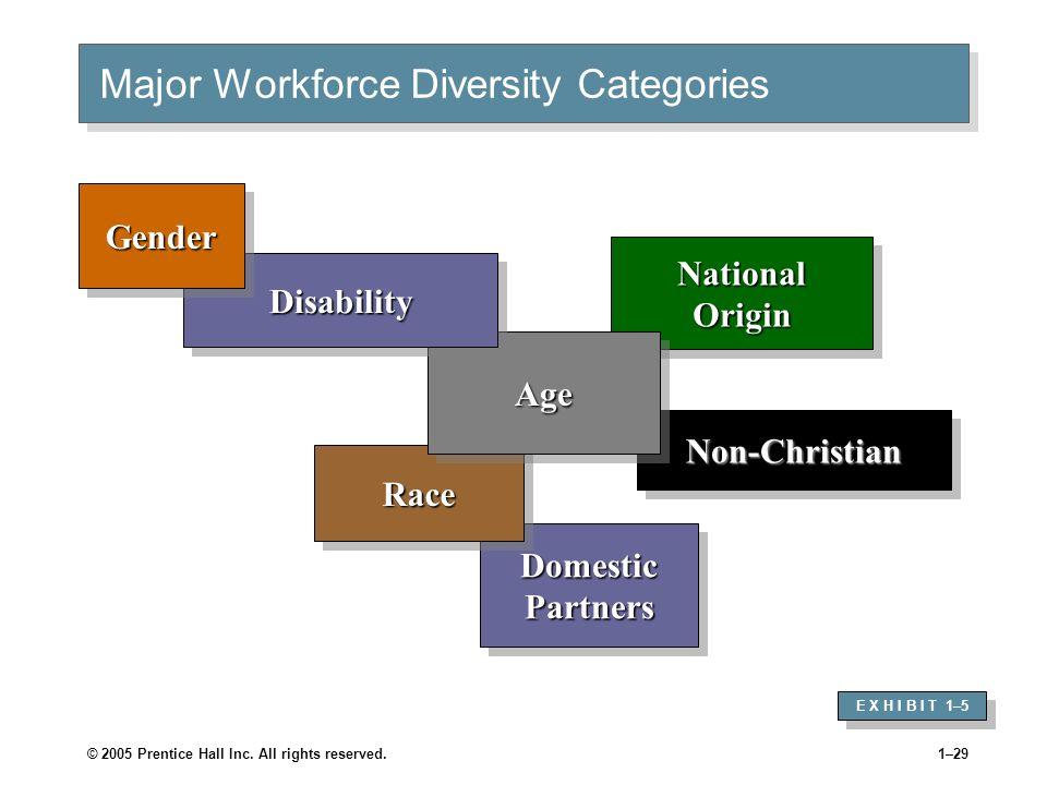 Major Workforce Diversity Categories