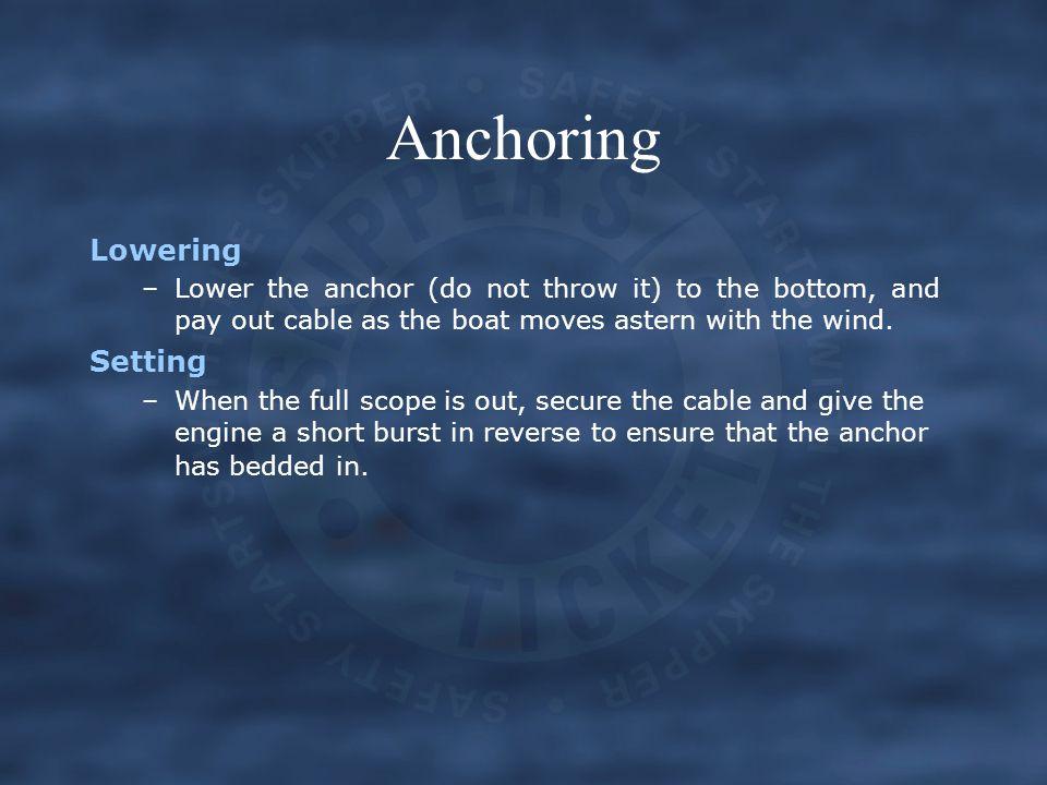 Anchoring Lowering Setting