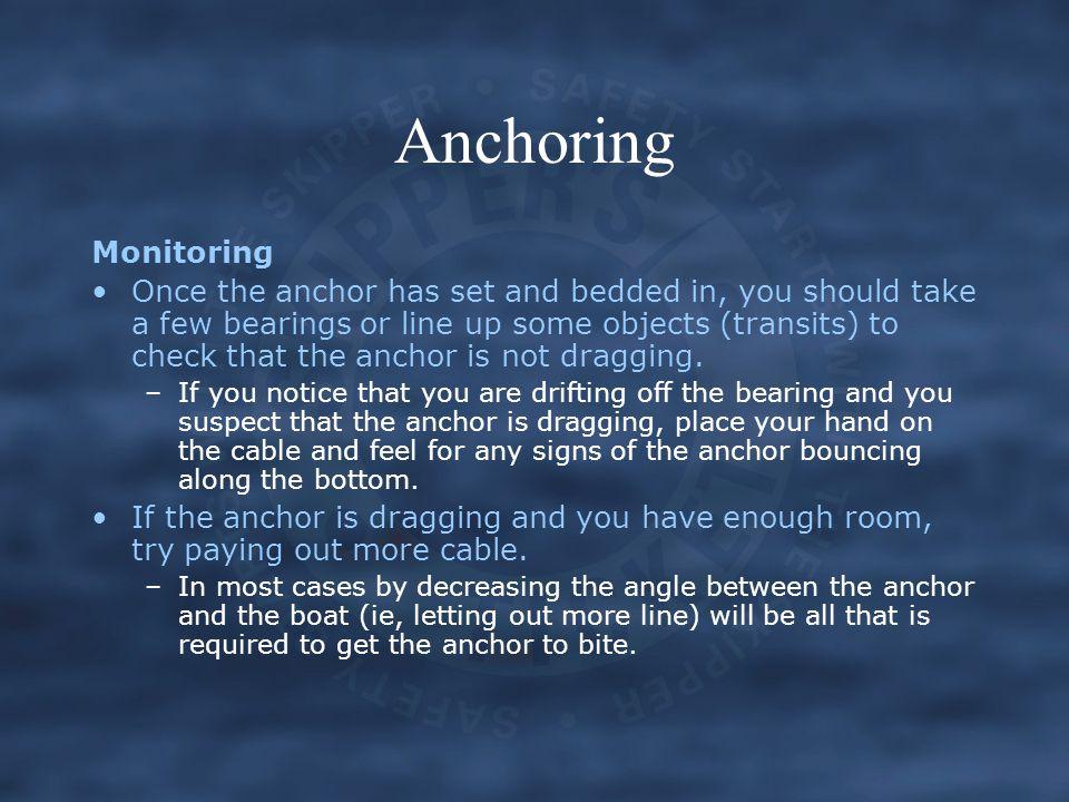 Anchoring Monitoring.