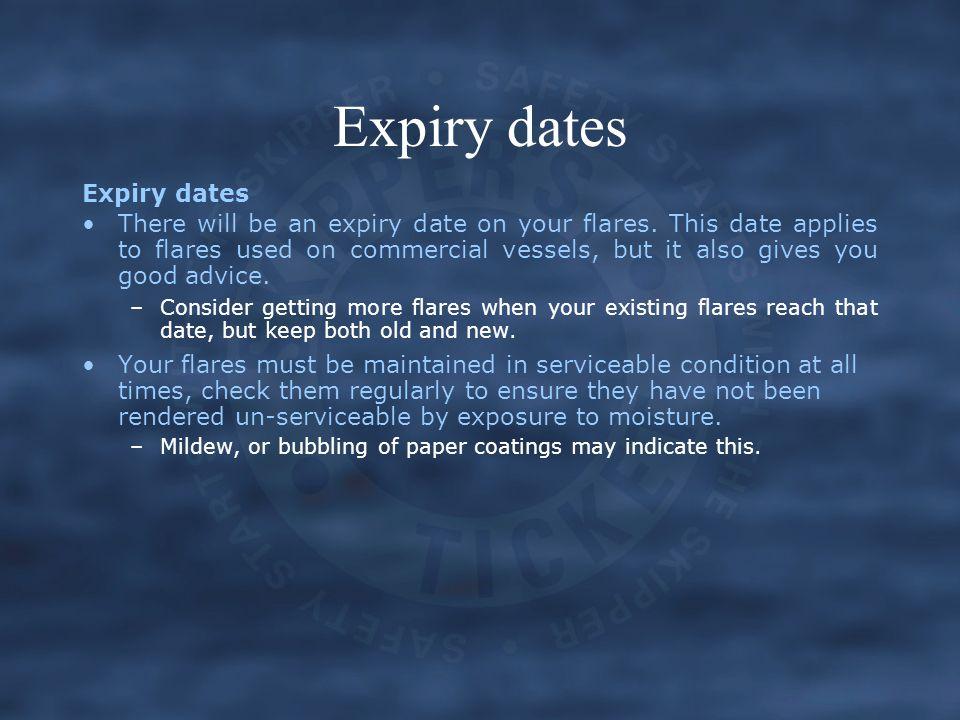 Expiry dates Expiry dates
