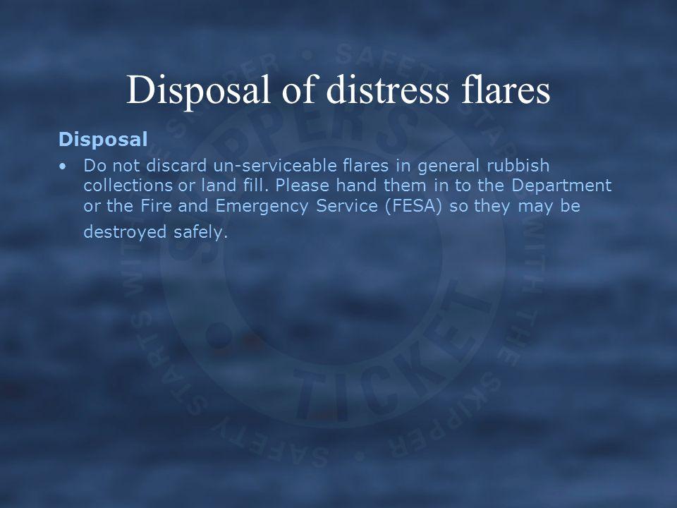 Disposal of distress flares