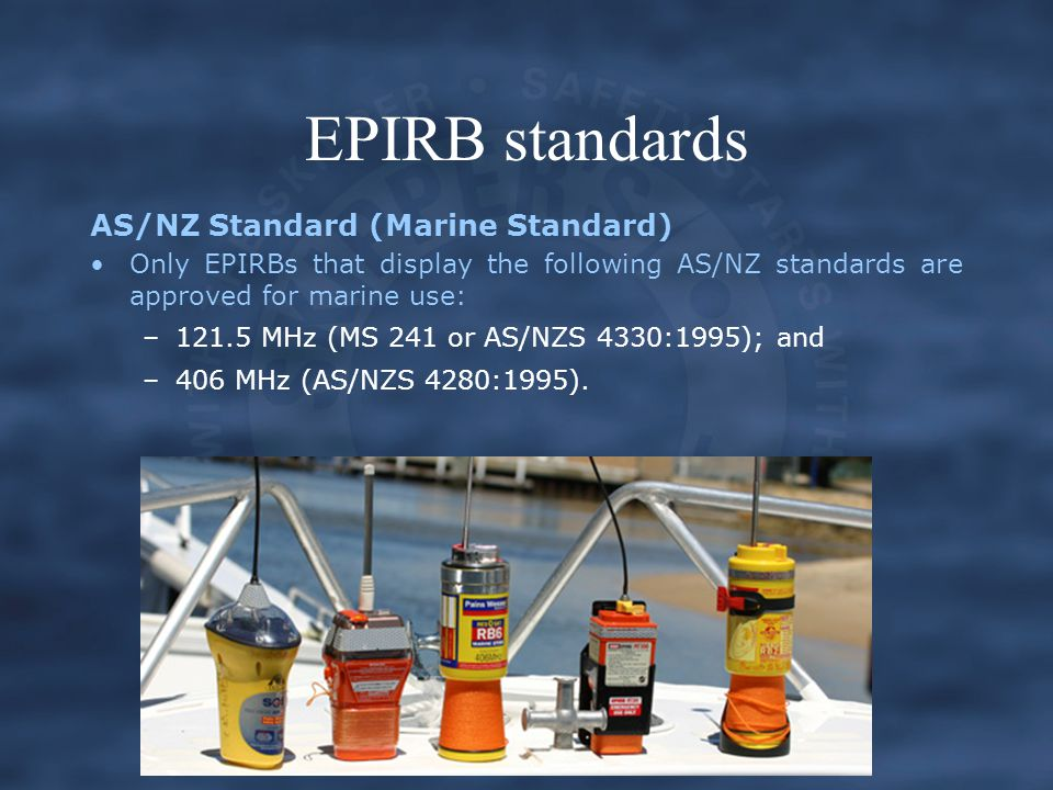EPIRB standards AS/NZ Standard (Marine Standard)