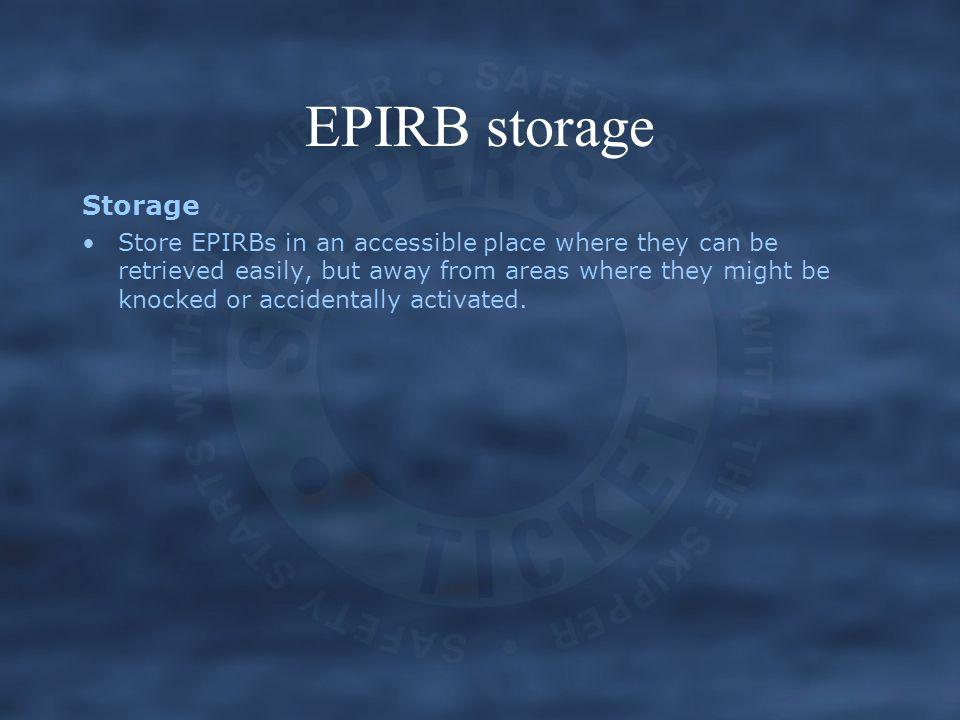 EPIRB storage Storage.
