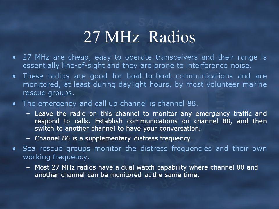 27 MHz Radios