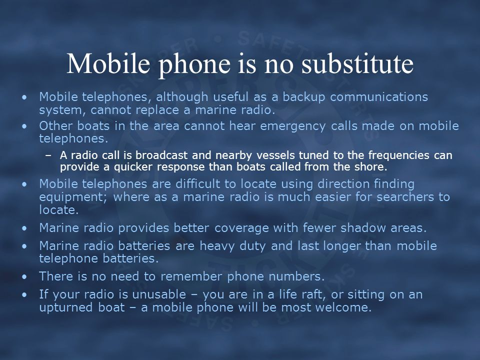 Mobile phone is no substitute
