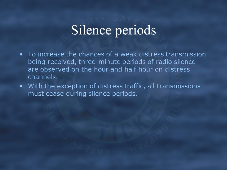 Silence periods