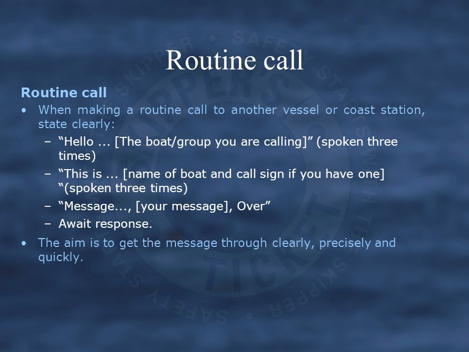 Routine call Routine call
