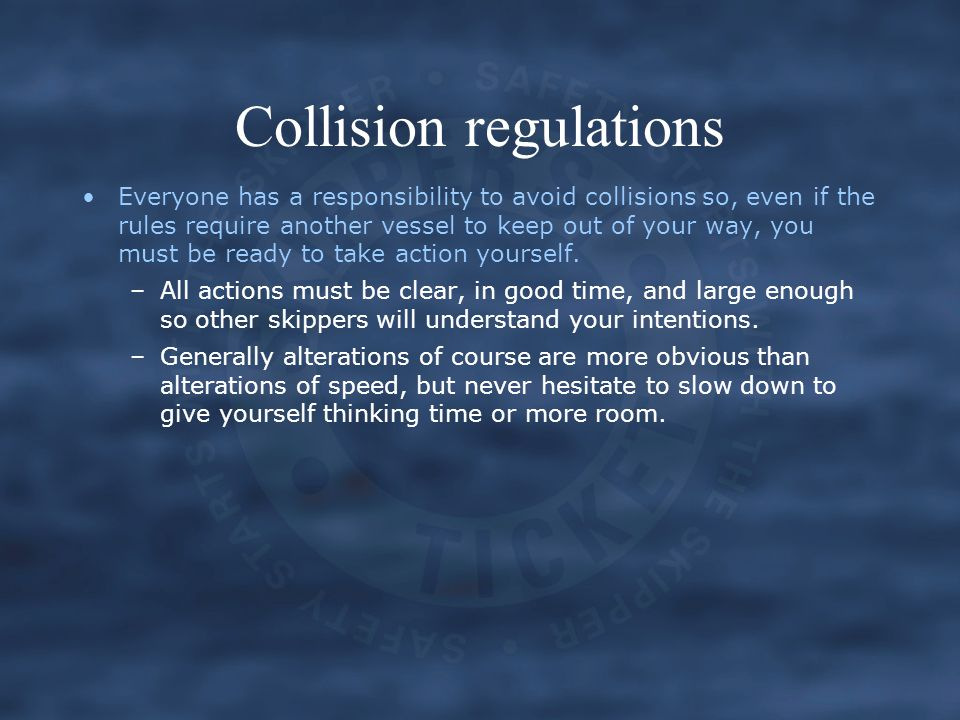 Collision regulations