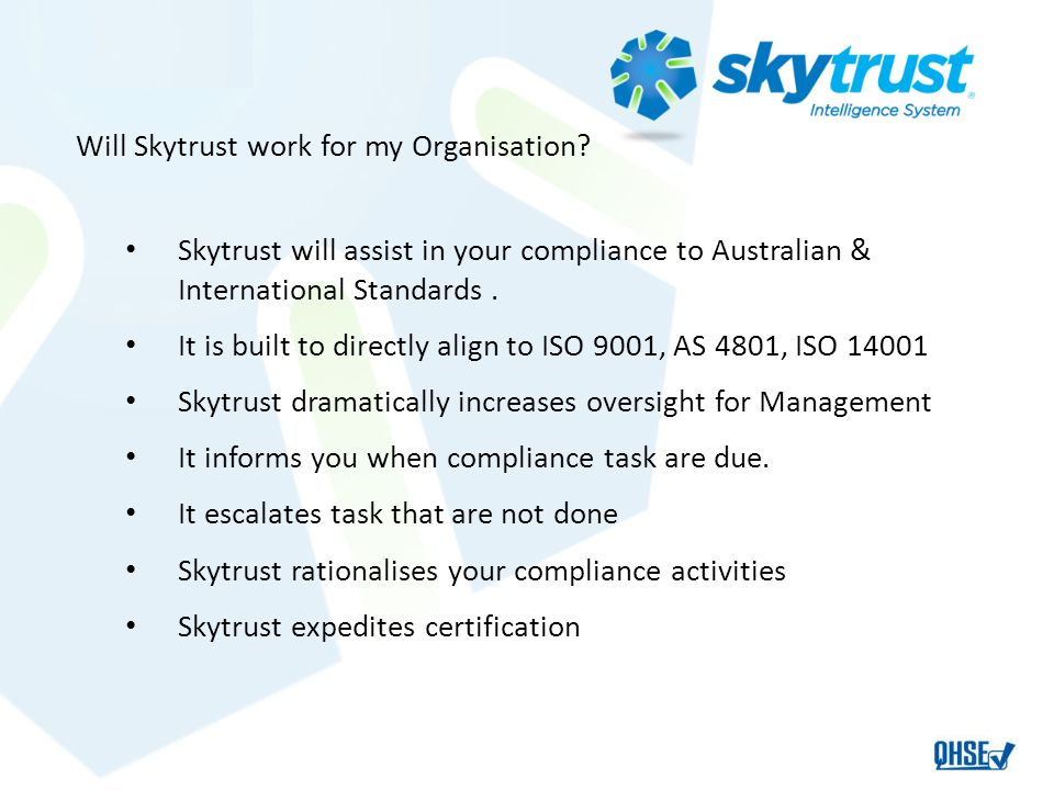Will Skytrust work for my Organisation