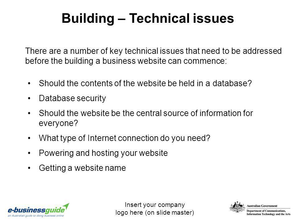 Building – Technical issues