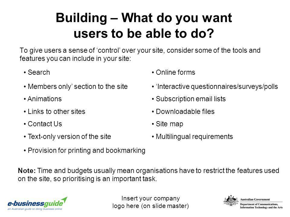 Building – What do you want