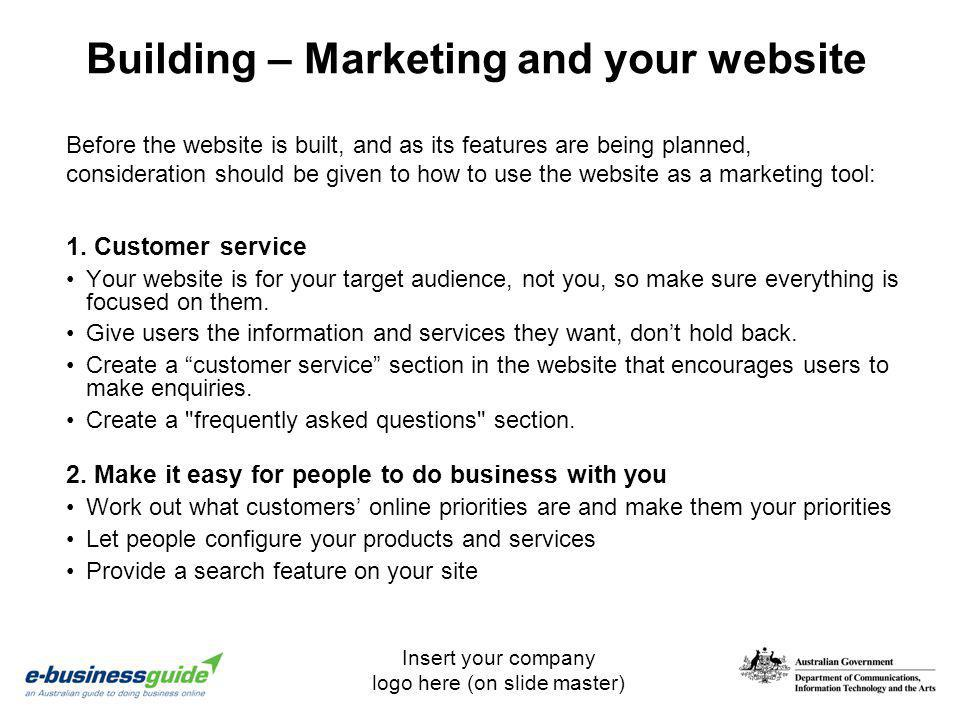 Building – Marketing and your website