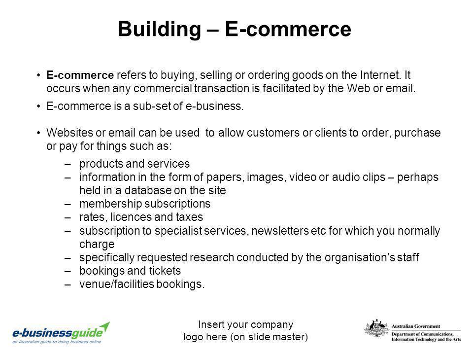 Building – E-commerce