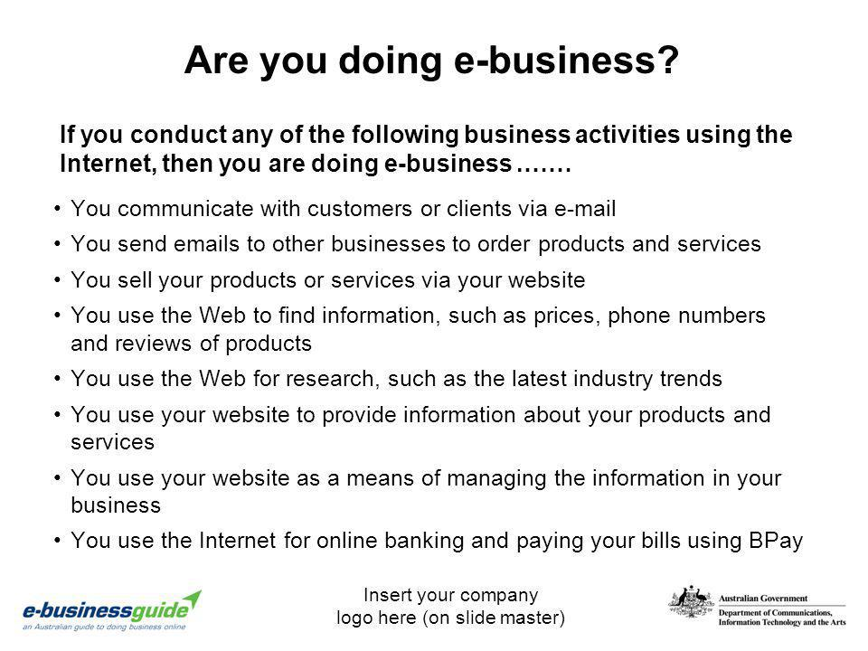 Are you doing e-business