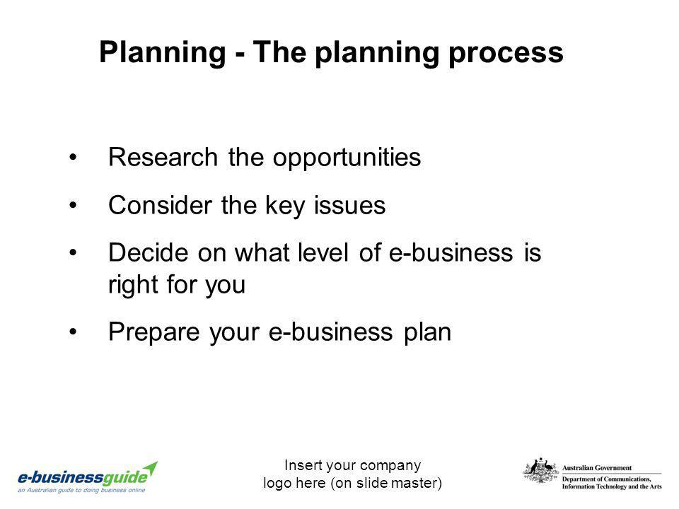 Planning - The planning process