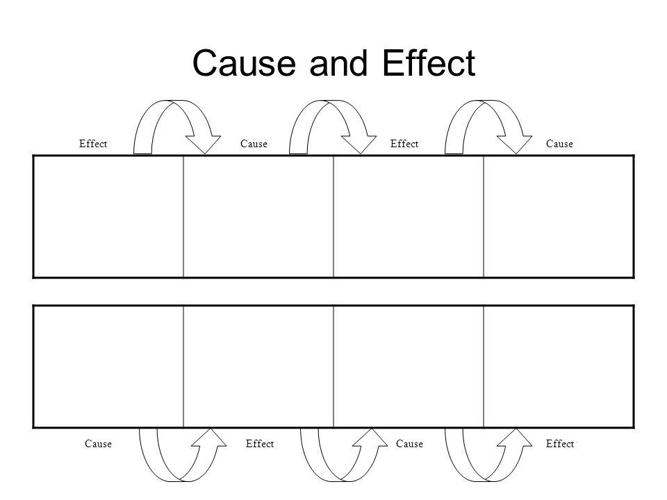 Cause and Effect Effect Cause Effect Cause Cause Effect Cause Effect