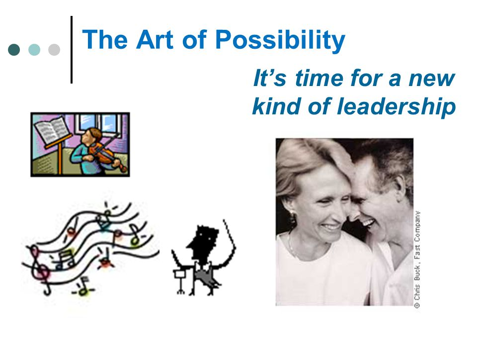 The Art of Possibility It's time for a new kind of leadership