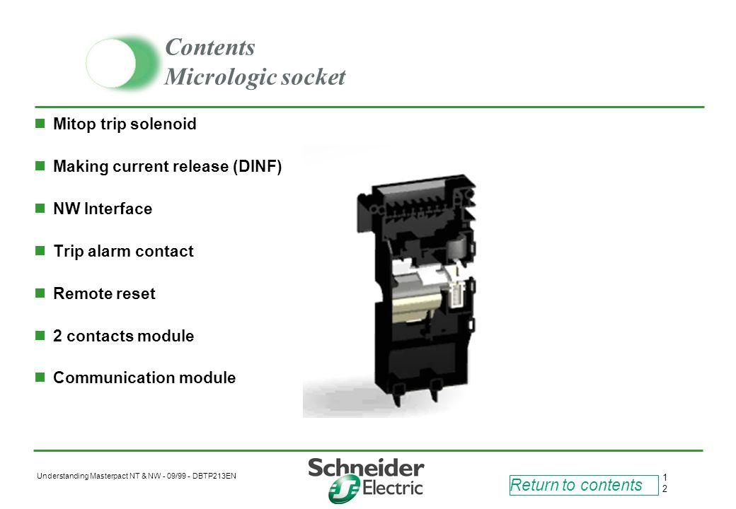 Contents Micrologic socket