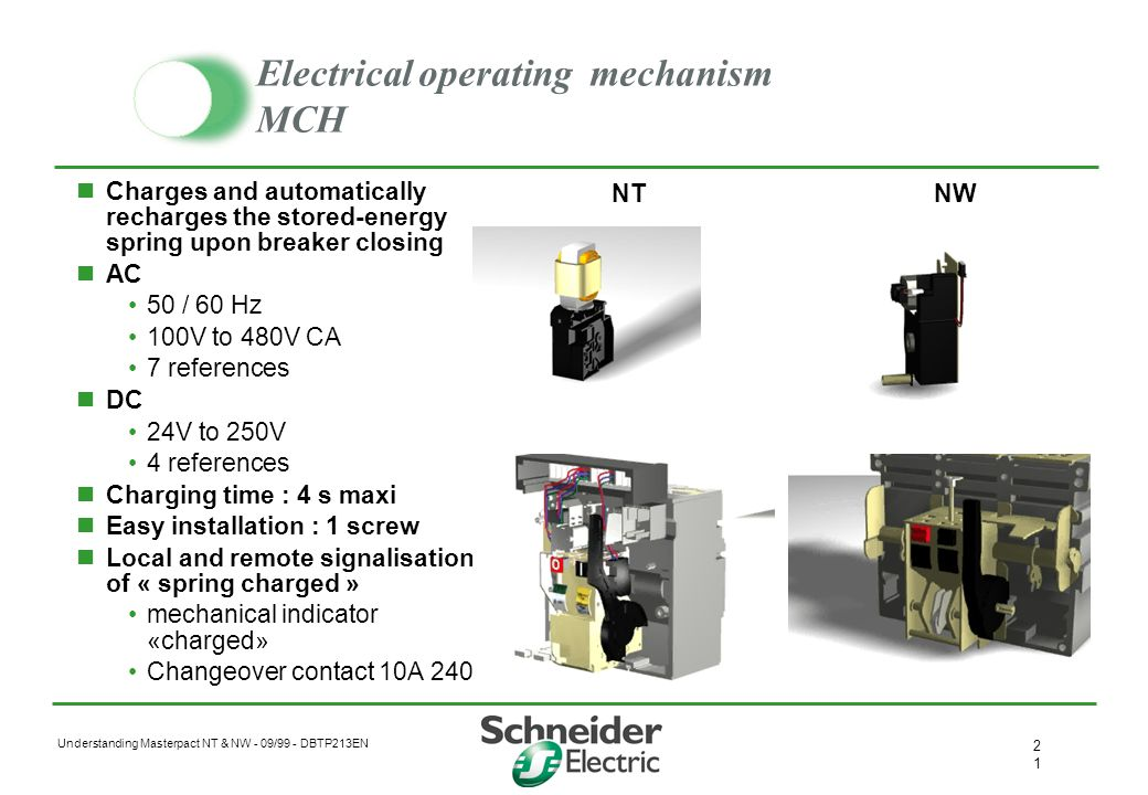 Electrical operating mechanism MCH