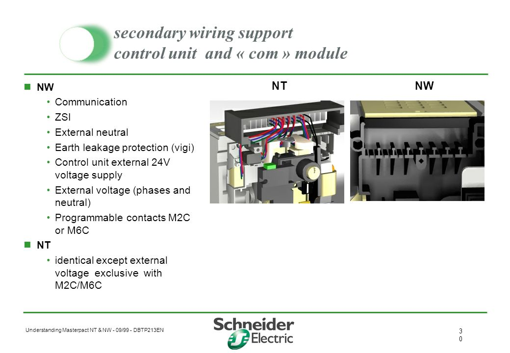 secondary wiring support control unit and « com » module
