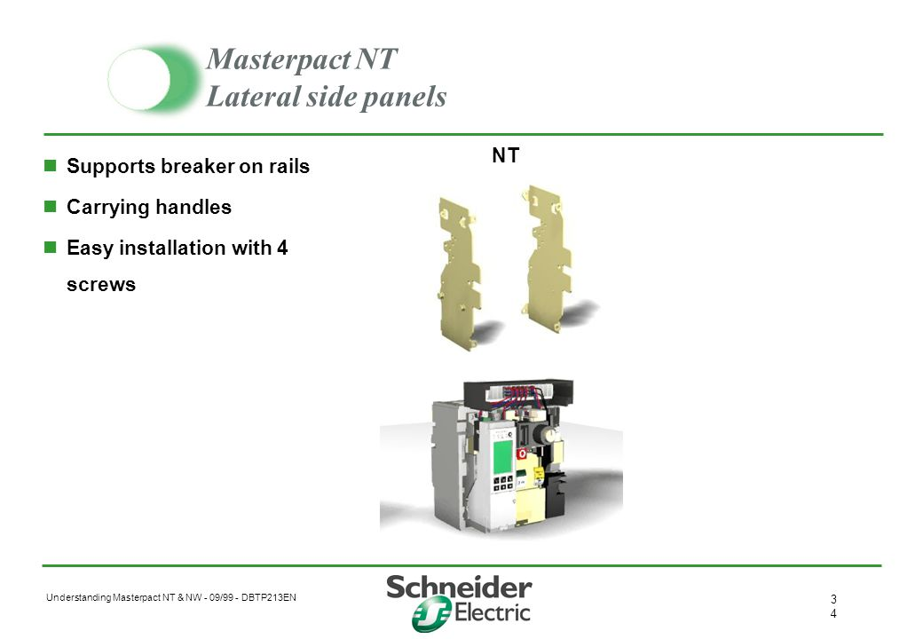 Masterpact NT Lateral side panels