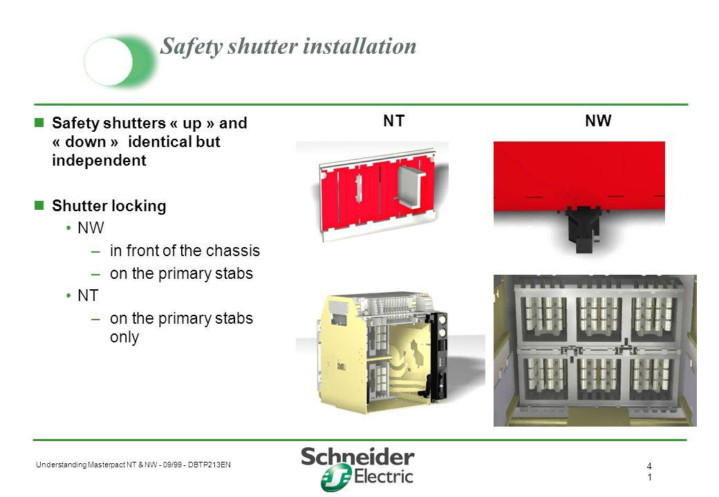 Safety shutter installation