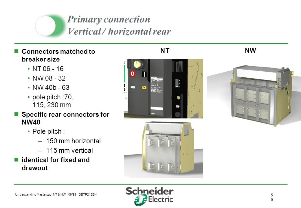 Primary connection Vertical / horizontal rear