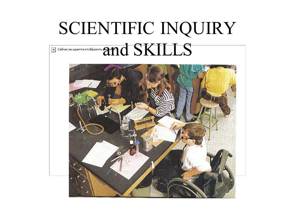 SCIENTIFIC INQUIRY and SKILLS
