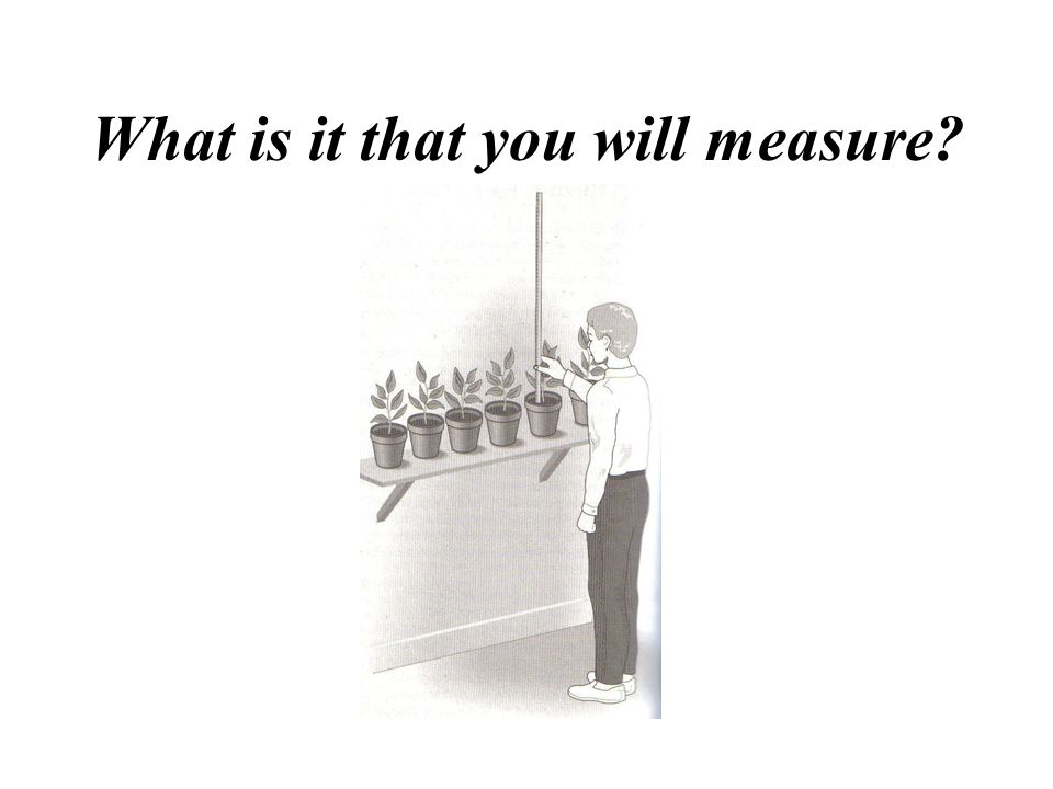 What is it that you will measure