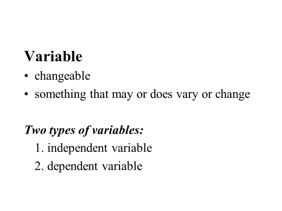 Variable changeable something that may or does vary or change