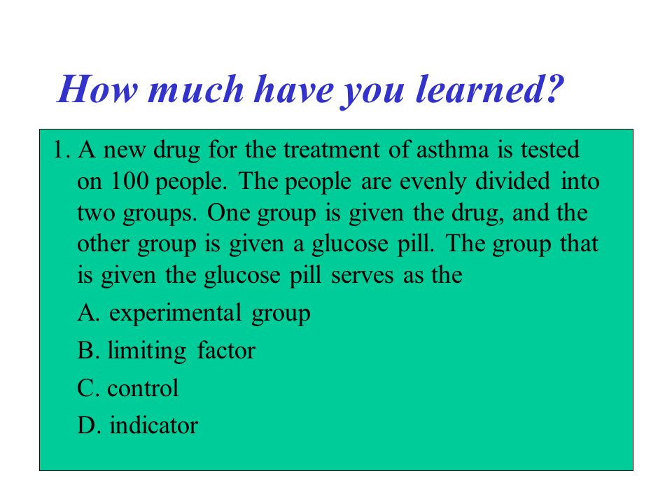 How much have you learned