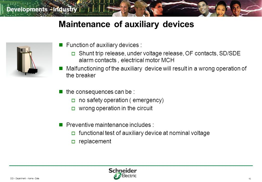 Maintenance of auxiliary devices