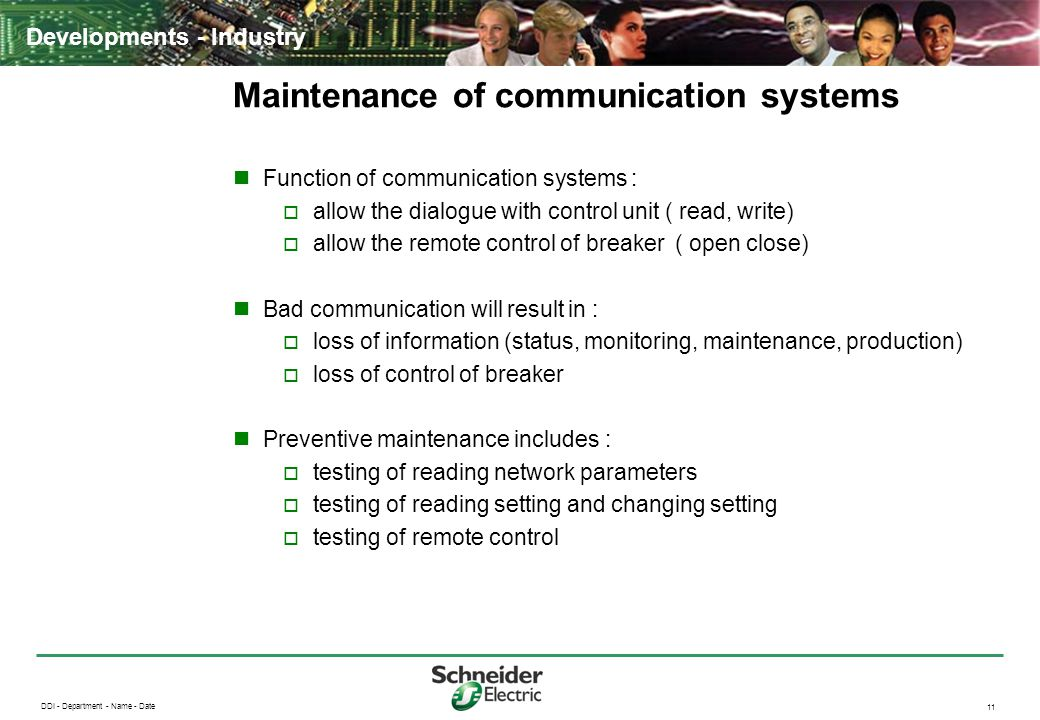 Maintenance of communication systems