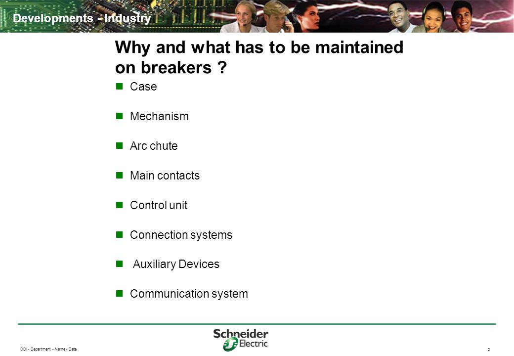 Why and what has to be maintained on breakers