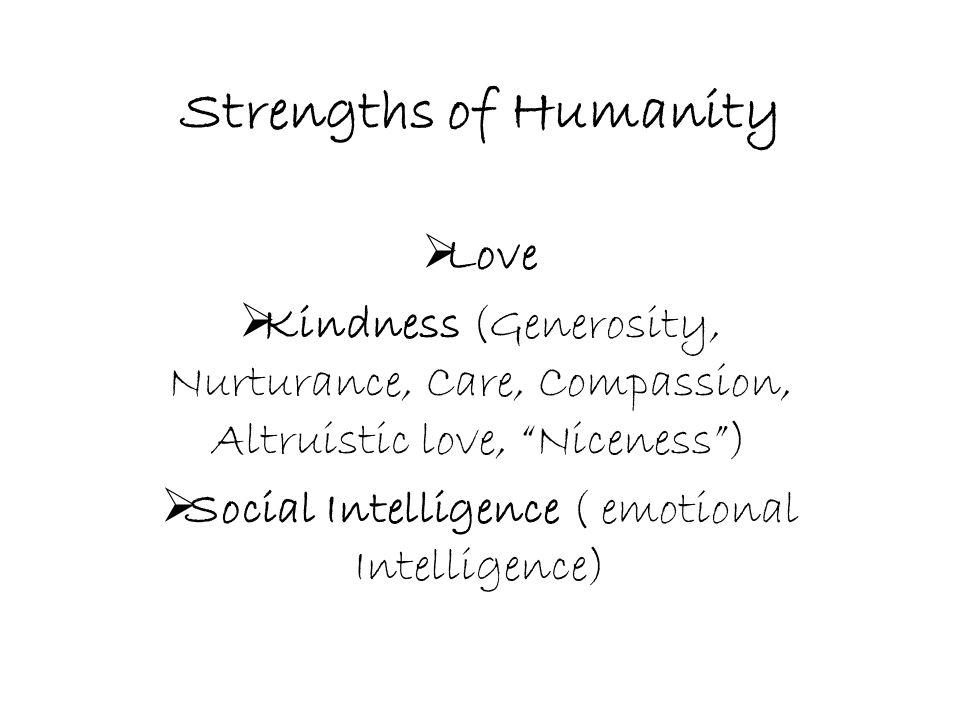 Social Intelligence ( emotional Intelligence)